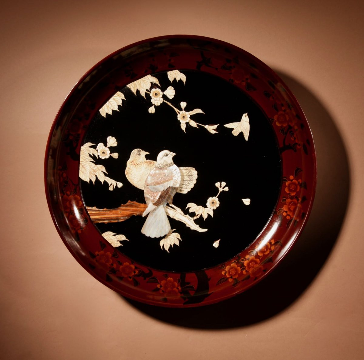 A Very Decorative Japanese Lacquered Charger. Meiji Period (1868-1912)