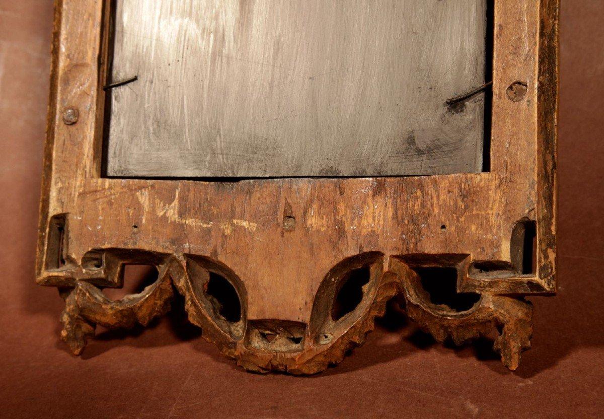 Un Miroir Très Intéressant Avec Les Armoiries Papales Du Dernier Quart Du 18e Siècle.-photo-5