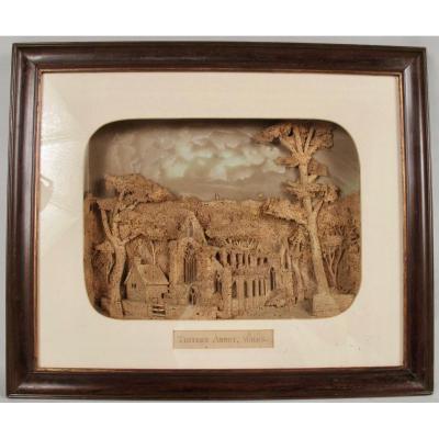 Sculpture En Liège Rare Et Historique De l'Abbaye De Tintern, Pays De Galles