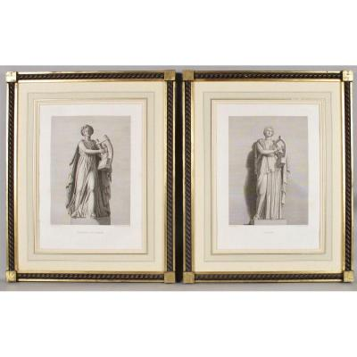 """""""the Grand Tour"""" A Pair Of Engravings Of Very Decorative Classical Subjects,"""