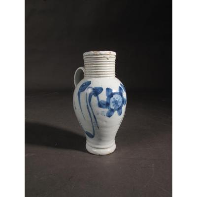 18th Century English Delft Jug With Beautiful Glaze.