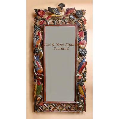 Grand Miroir En Bois Attribué à La Sécession De Vienne