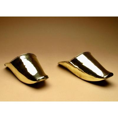 A Pair Of Decorative Wall Brackets In The Shape Of Spanish Conquistador Stirrups.19th Century.