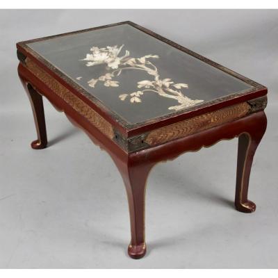 Une Table Basse Orientale Inhabituelle Intéressante, Période Japonaise Meiji