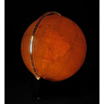 An Interesting And Very Decorative Globe, With The Original Internal Light