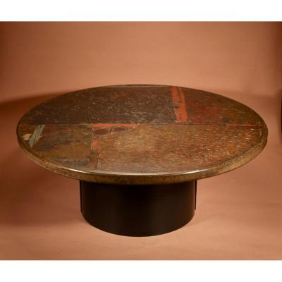 A Brutalist Period Dutch Signed Paul Kingma Early Coffee Table.