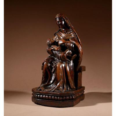 Une Charmante Sculpture De Maria Lactans Continental Début XVIIIe Siècle