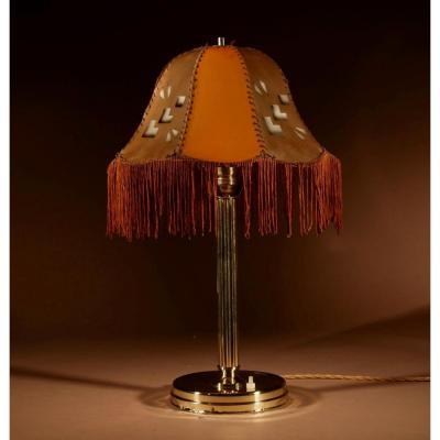 Lampe De Table Art Deco Cubisme Très Intéressante Circa 1920.
