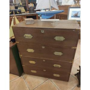 Commode Malle Militaire Style Marine