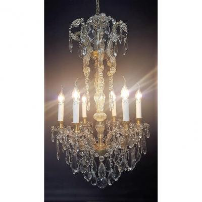 Maria-theresia Chandelier With 6 Light Points, Bronze