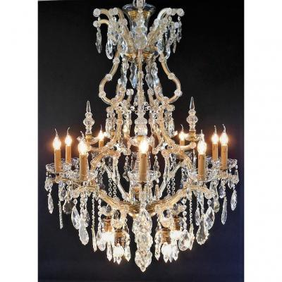 Maria - Theresia Chandelier With 16 Light Points, Bronze