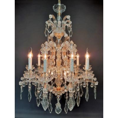 Beautiful Chandelier With Pendants,