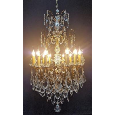 Chandelier Nineteenth Century With 12 Lights
