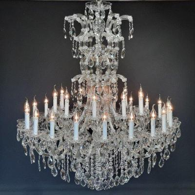 Exceptional Chandelier Maria-theresia With 31 Light Points, Chrome
