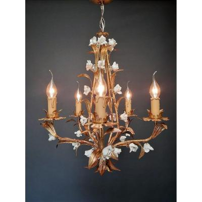 Italian Chandelier With 5 Light Points