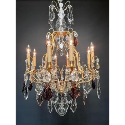 Magnificent French Chandelier With 12 Light Points.