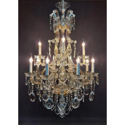 Maria-theresia Chandelier With 12 Lights, Bronze