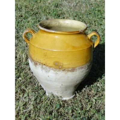 Pot à Confit, Pot à Graisse , Poterie Ancienne France