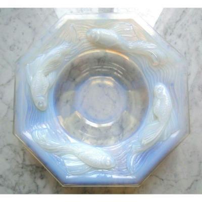 Large Opalescent Dish Octagonal Edmond Etling France 1930