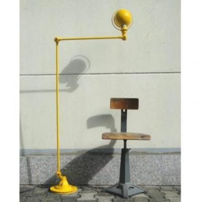Vintage Jielde Yellow 2 Arm Floor Lamp By Jean Louis Domecq France.