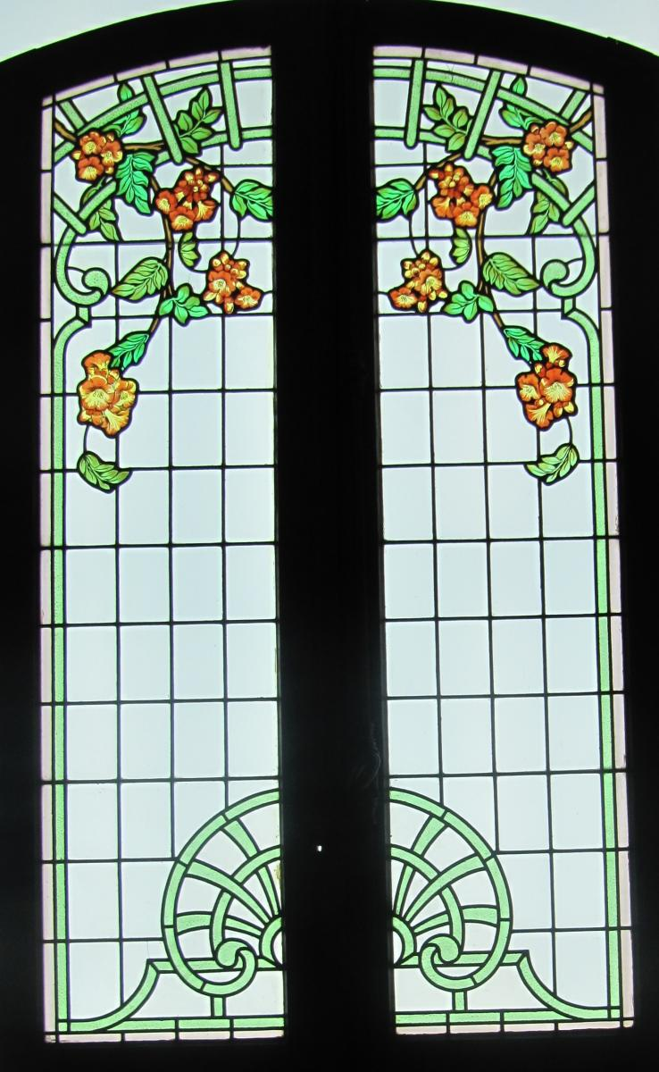 Stained Glass - Trumpet Vines