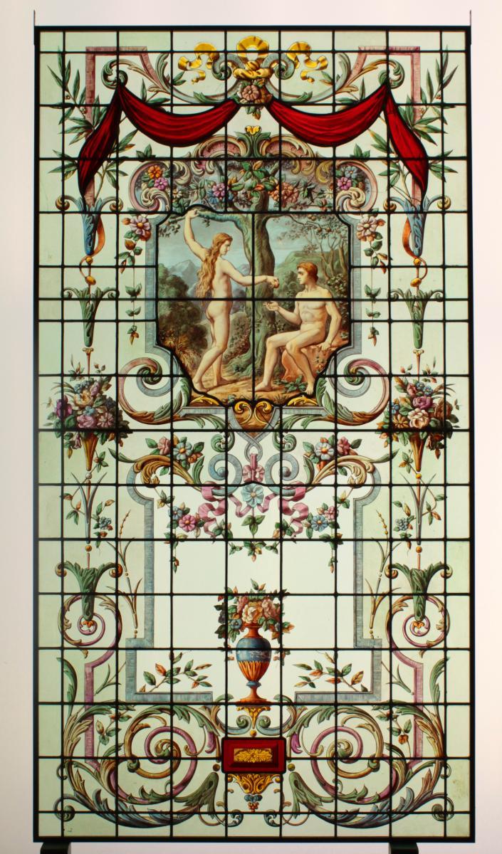 Vitraux - Vitrail - Adam Et Eve