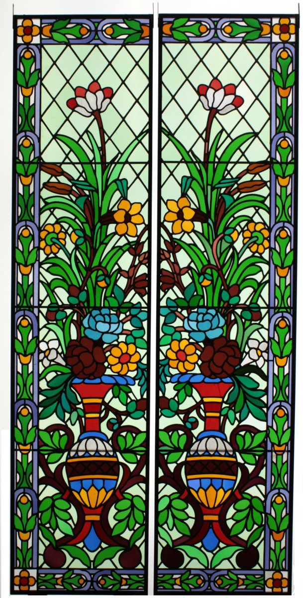 Stained Glass- Flower Decoration