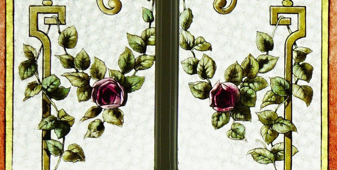 Vitrail - Vitraux - Guirlandes De Fleurs-photo-1