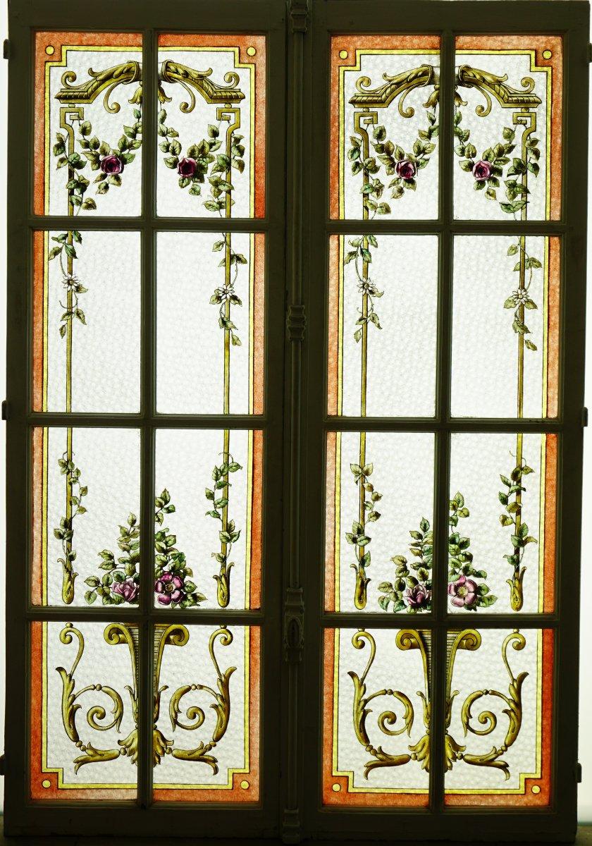 Vitrail - Vitraux - Guirlandes De Fleurs