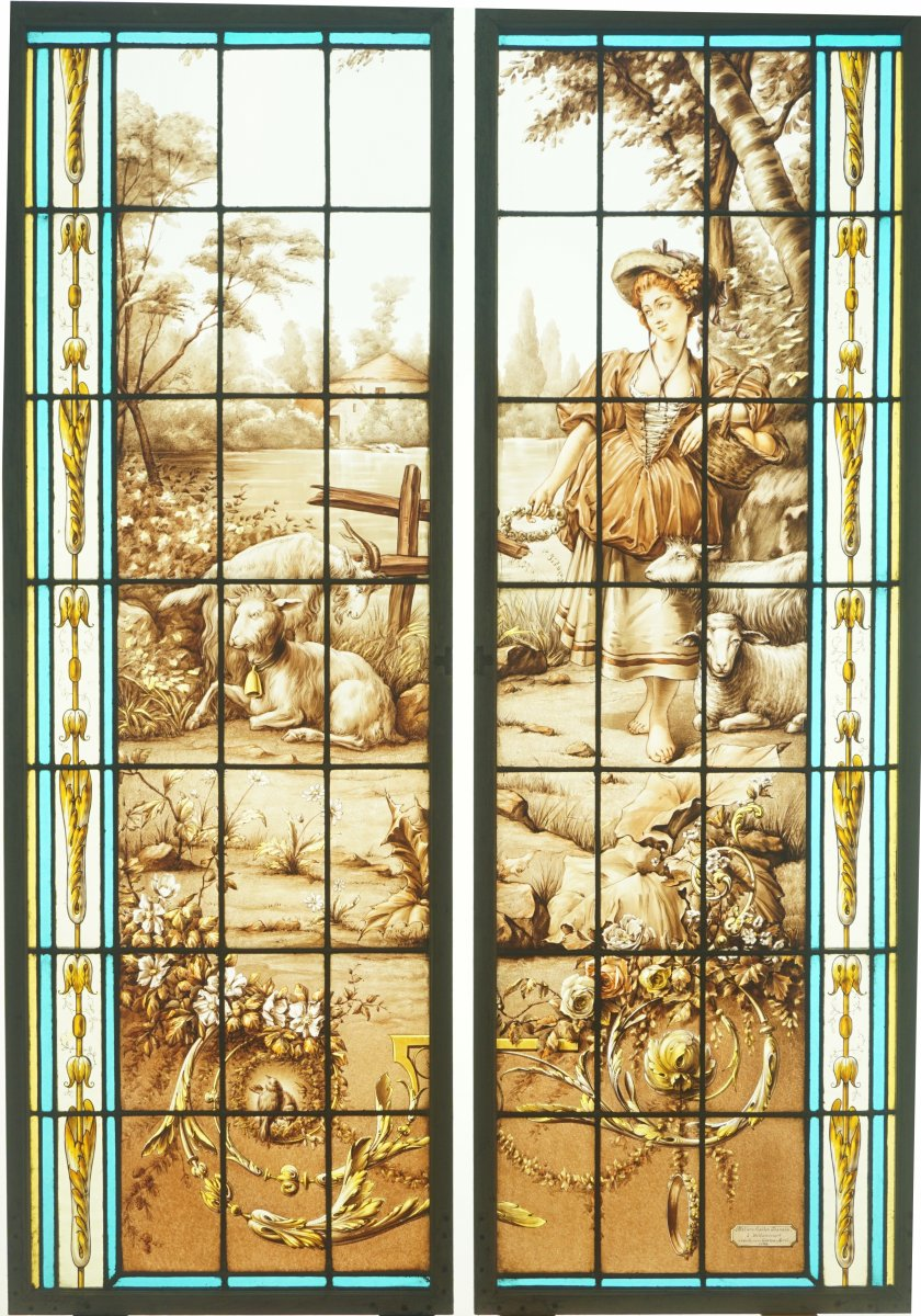 Stained Glass - Young Woman In The Countryside