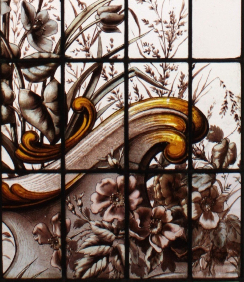 Stained Glass -  Vegetation With Birds-photo-4