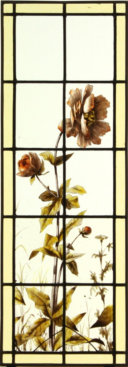 Stained Glass - Peonies