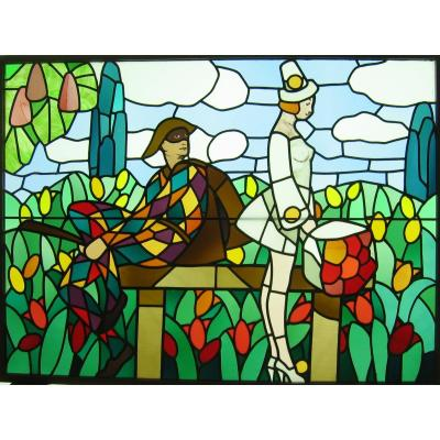 Stained Glass - Stained Glass - Harlequin And Columbine
