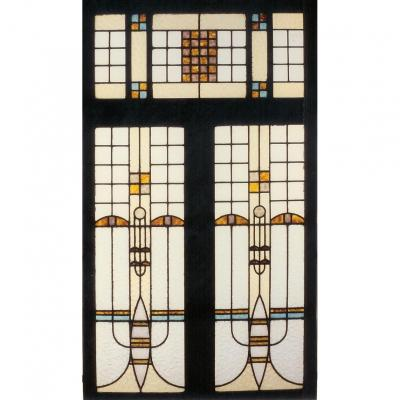 Stained Glass – In The Frank Lloyd Wright Style