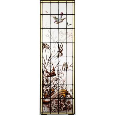 Vitrail - Vitraux - Végétation Aux Oiseaux