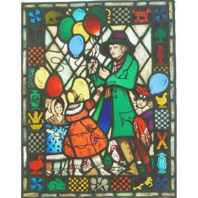 Stained Glass - Stained Glass - The Balloon Merchant