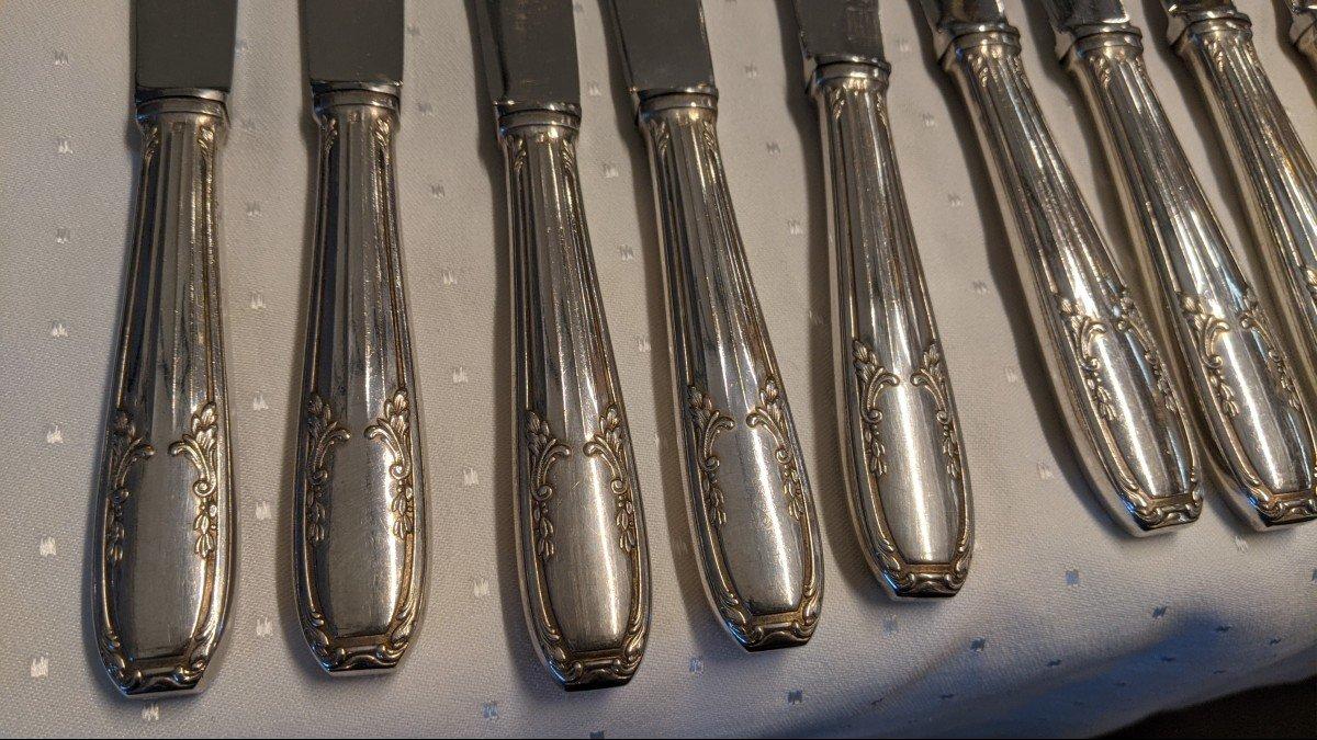 Ménagère 72 Pièces 4 X 18 Fourchettes Cuillères Couteaux Métal Argenté Orf. Pg-photo-1