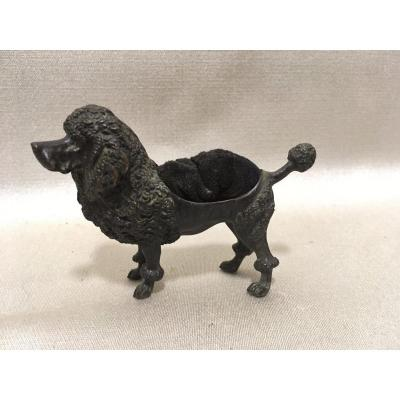 Ancient Wipe Feather Bronze Dog Poodle Writing Office