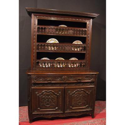 Buffet Vaisselier Breton In Chestnut Wood Furniture