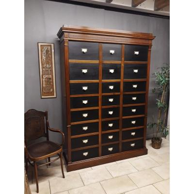 Office Filing Cabinet Cabinet Archive Notary Cardboard Walnut