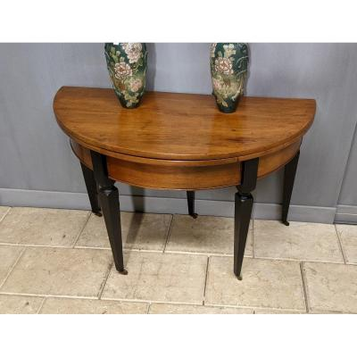 19th Half Moon Console Table In Cherry