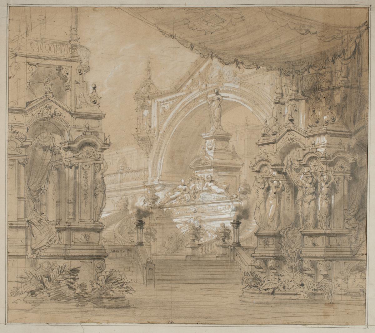 Philippe Chaperon (1823-1906), Theater Decor Project