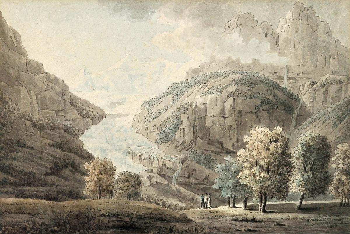 Samuel H. Grimm (1733-1796), Unteraar Glacier, Switzerland, Watercolor