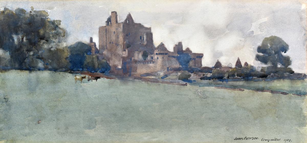 James PATERSON (1854-1932), Château de Craigmillar, Ecosse