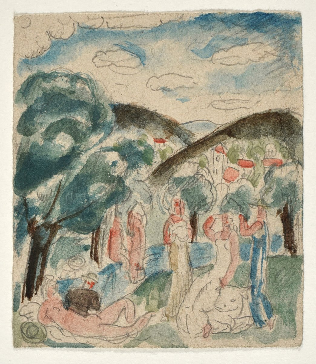 Gilbert Poillerat (1902-1988), Nudes In A Landscape (kidnapping From Europe)