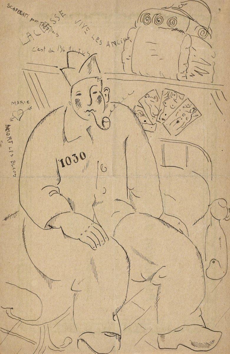 Gilbert Poillerat (1902-1988), Prisonnier à La Pipe