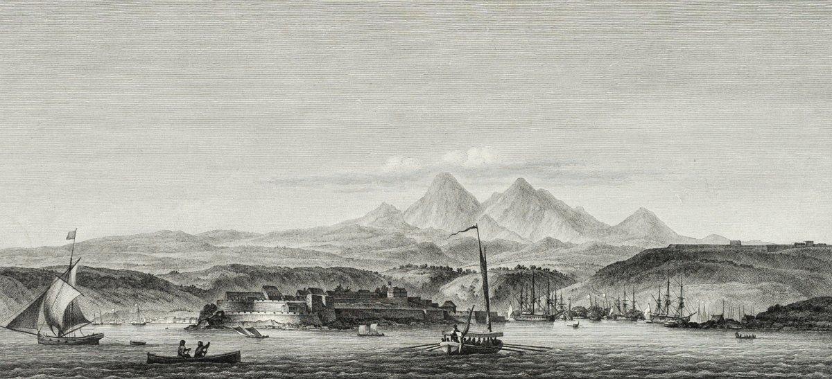 Nicolas Ozanne (1728-1811), Le Fort Royal Dans l'Isle De La Martinique, Gravure