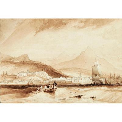 Adolphe ROUARGUE (1810-1870), Rade de Rio de Janeiro, Brésil