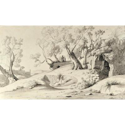 Antoine Gabriel Tancrède De Gazeau (1801-1881), Campagne Romaine