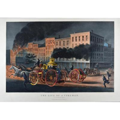 Currier & Ives, The Life Of Fireman
